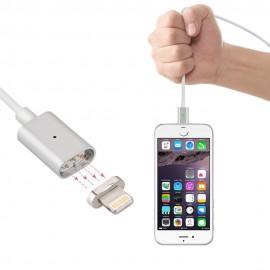 Câble usb magnétique à charge rapide + connecteur aimanté lightning avec indicateur led pour iPhone SE/5/6/7