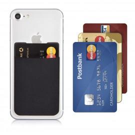 Porte carte bancaire en silicone auto-adhésif pour smartphone