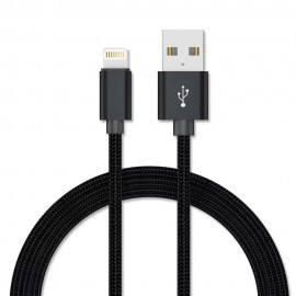 Câble Renforcé Lightning/Usb High Speed en Nylon Tressé - Connecteur en Aluminium